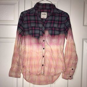 Abercrombie handmade distressed flannel shirt